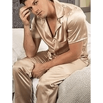 Silk nightwear category image showing a man in silk pyjamas by sulis silks