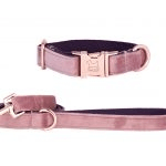 british made pet accessories category image showing a pink dog collar and lead by iwoof