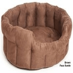 dog beds made in britain category image showing brown soft luxury dog bed