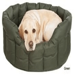dog beds made in britain category image showing a dog laying in luxury dog beds