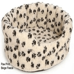 dog beds made in britain category image showing an empty paw print dog bed by p and l pet beds luxury dog beds