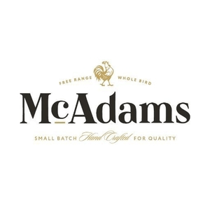 mcadams dog food logo in black text,