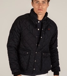 Teddy Edward, British mens clothing, quilted blue jacket