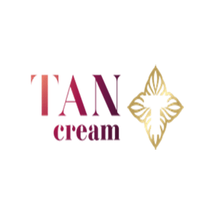 british skincare products category image showing tan cream logo sowing tan cream text and logo on white background