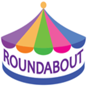 british made kids clothing category image showing a roundabout on a white background with roundabout text, children's clothes made in uk, british made children's clothes