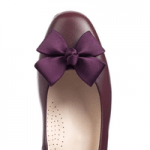 british made womens shoes category image for sargasso and grey shoes showing a purple shoe with bow on white background