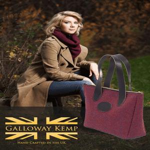 Best British Handbags, Galloway Kemp, Tweed