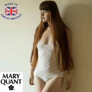 Mary Quant, Polka dot bodysui, Made in England, 1980's, win competition