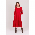 Justine Tabak, red linen dress, made in great britain, best british women's clothing brands