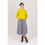Justine Tabak, yellow wool jumper, made in great britain, best british women's clothing brands