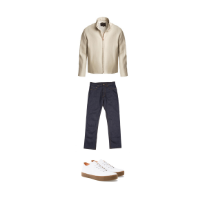 Made in Great Britain outfit, men's jeans, jacket, trainers, outfit, find clothes that are made in great britain