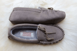 Draper of Glastonbury slippers, made in england