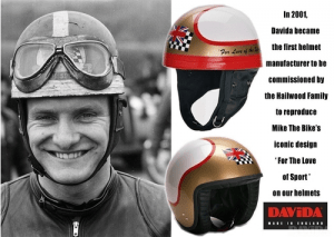 davida, motor cycle helmet, made in england