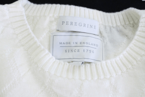 Peregrine, made in england label