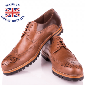 British business directory, uk made, british clothing brands, pair of men's brown shoes, made in britain