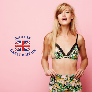 woman in lingerie, british clothing brands, british made products, made in britain