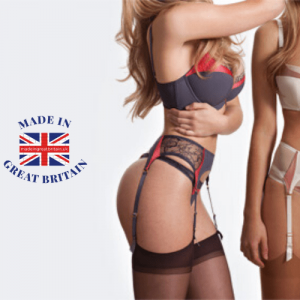 best british lingerie brands, british lingeries brands, woman in suspenders and tights sexy arse lingerie made in britain