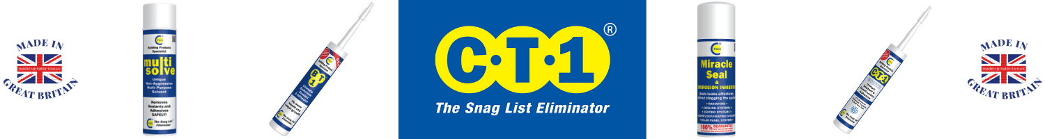 ct1 sealant, snag list eliminator, ct-tech products, made in uk,
