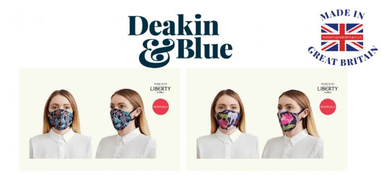 deakin and blue, british made face masks, face masks uk,