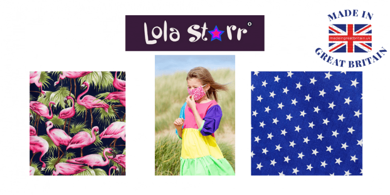lola starr, face coverings for adults and children, made in great britain and UK