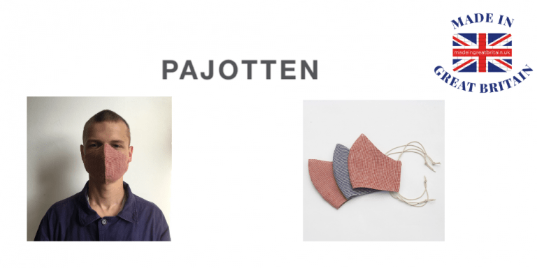 pajotten, british made face masks, face masks uk, made in great britain
