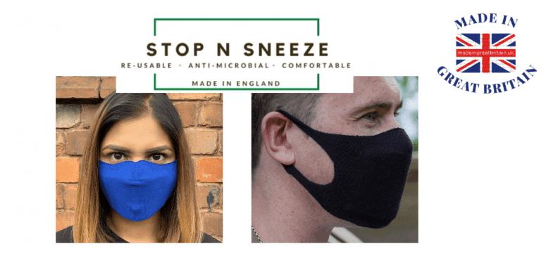 stop n sneeze, nhs approved face masks