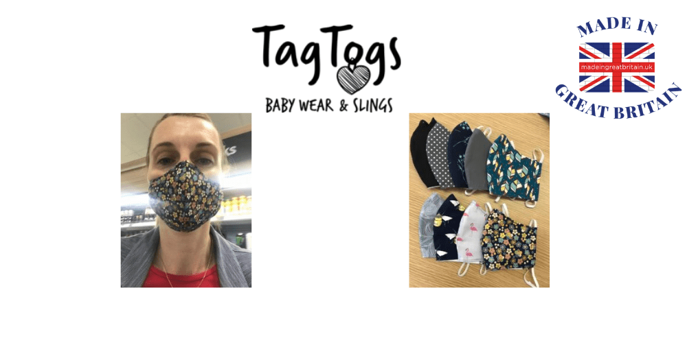 tag togs, british made face masks, reusable face masks,