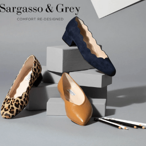 british made womens shoes category image showing sargasso and grey black text logo