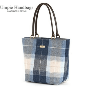 umpie handbags, made in britain, tote bags, canva bags, woman with canvas bag