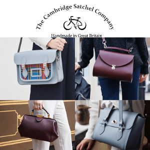 the cambridge satchel company, women holding bags of various types made by the cambridge satchel company handbag purse and cross shoulder