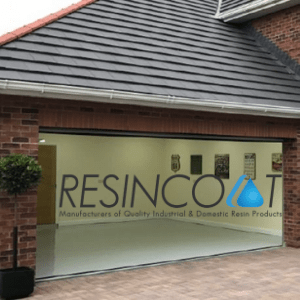 resincoat, open garage on uk home ready for resin coat paint treatment, uk diy products, garage floor resin coat,
