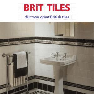brit tiles, british bathroom in black and white tiles with sink for brit tiles, uk diy, uk home improvement