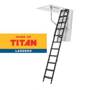 titan ladders, made in england, loft ladders made in england on white background by titan ladders, uk home improvement