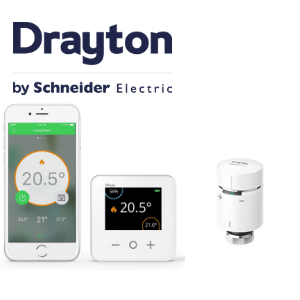 drayton, wiser smart control thermostat, made in britain, british built to last logo, uk home improvement