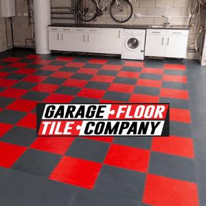 garage floor tile company, uk diy, red and grey garage floor tiles manufactured in the uk