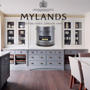 mylands paints, luxury kitchen painted with mylands paints made in london,