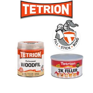 uk diy, tetrion diy products wood fillers and knight with text fills and bonds,
