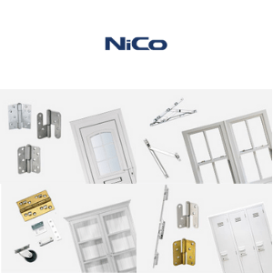 hinges and fittings for windows and doors by nico uk manufacturers