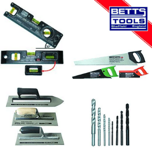 plastering and bricklaying tools and chisels and spirit levels made in Sheffield England by Betts Toolmakers
