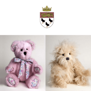 canterbury bears, two handmade teddy bears by canterbury bears