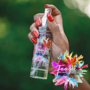 faayde, portable tavel sized stain remover bottle for clothes hald be a black woman