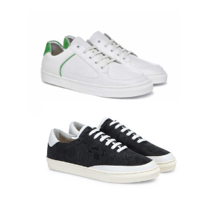 rose rankin handmade and designed trainers for women made in england white and black 2 pairs