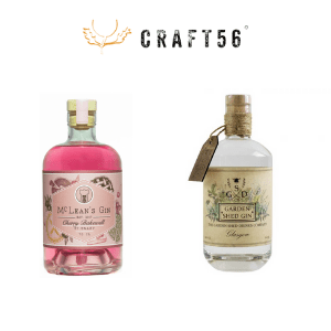 craft56 gin subscritions cherry bakewell gin and Scottish garden shed small batch gin, chritmas gifts for women, birthday gifts for women