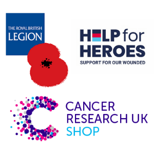 donate to charity, uk charities, royal british legion, poppy shop, poppy appeal, help for hereos, cancer research uk, made in great britain