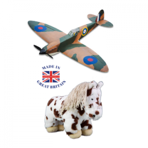 british toy brands, british toys, spitfire model and soft toy pony