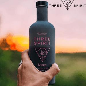 three spirit drinks, livener non alcoholic drinks made in uk and plant based vegan friendly