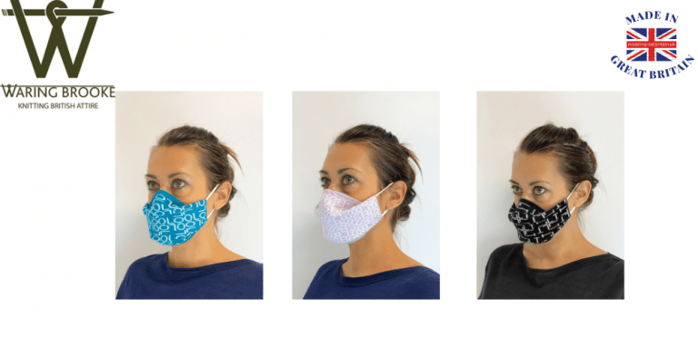 waring brooke, knitting british attire, face masks uk, knitted face foverings