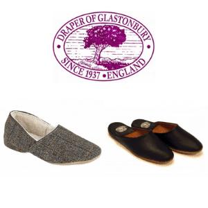 luxury men's slippers by draper of glastonbury