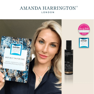 amanda harrington best face tan uk award and bronzing face mist, british beauty
