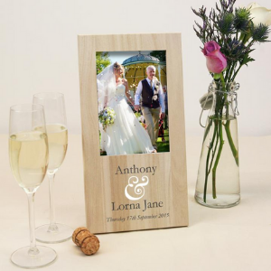personalised wooden picture frame gift made in england